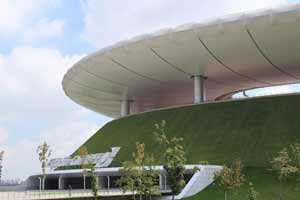 Ecological cover of the Omnilife Stadium