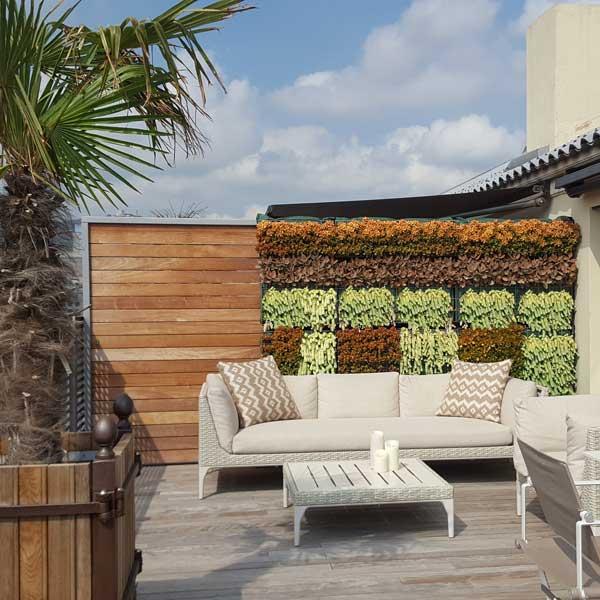 jardín vertical de las terrazas de los penthouses del Hotel Majestic Barcelona